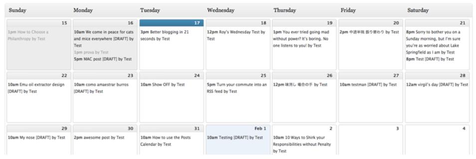 صورة من إضافة Editorial Calendar