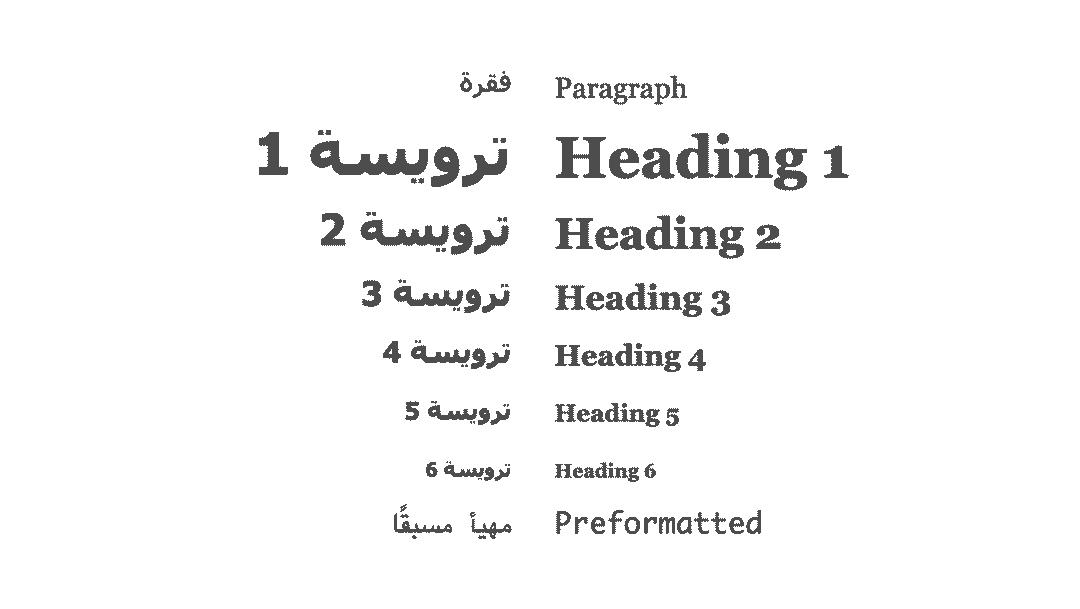 مقارنة الترويسات بالعربية وال H tags