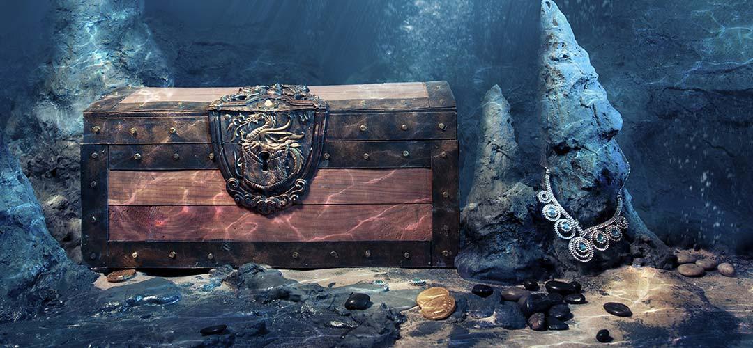 العثور على صندوق مغمور تحت سطح البحر