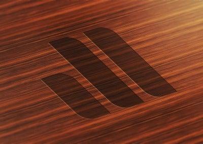شعار على خشب